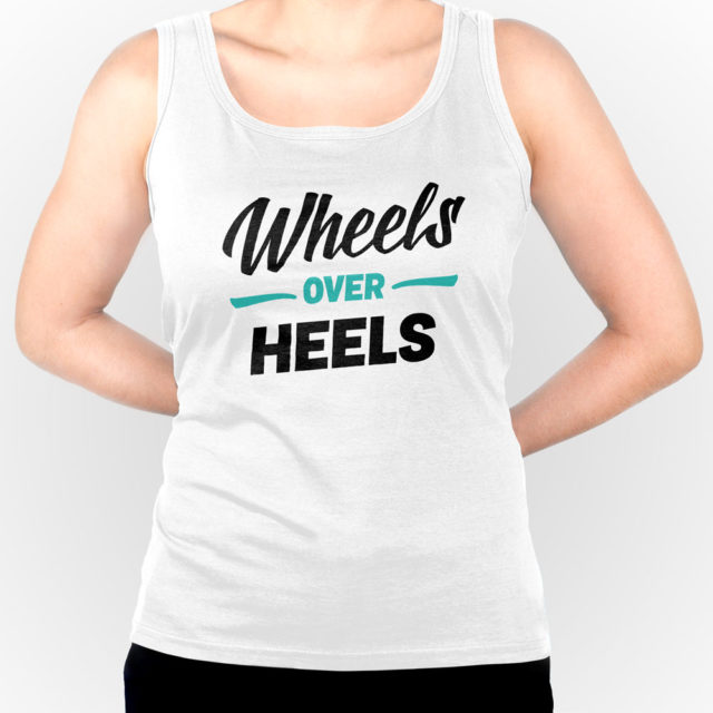 Wheels Over Heels White Jdm Tuner Tank Top