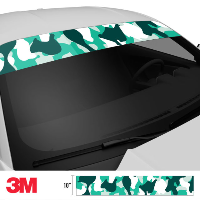 Jdm Premium Windshield Strip Banner Camo Ice Side 2