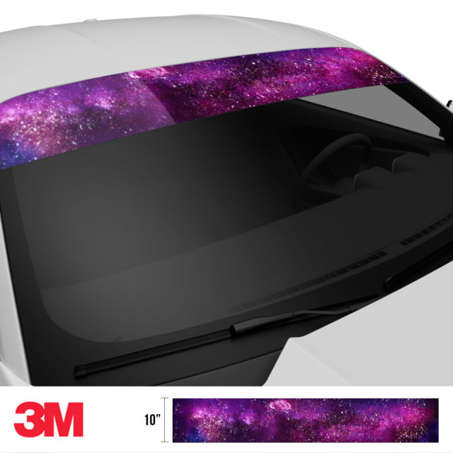 Jdm Premium Windshield Strip Banner Galaxy Side 2