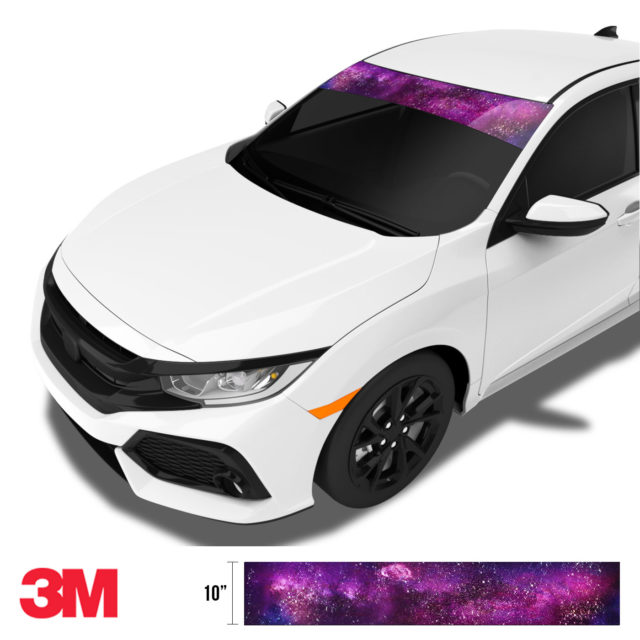 Jdm Premium Windshield Strip Banner Galaxy Side