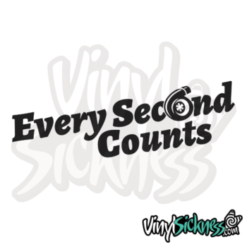 Every Second Counts Jdm Sticker / Decal
