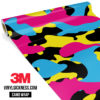 Jdm Premium Camo Neon Party Vinyl Wrap Large