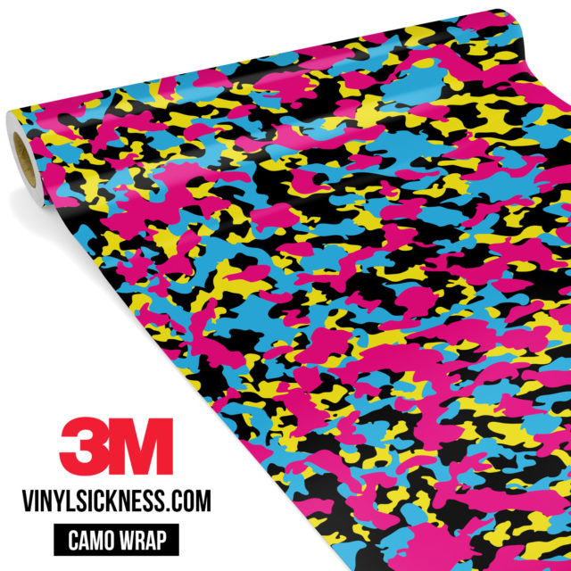 Jdm Premium Camo Neon Party Vinyl Wrap Small